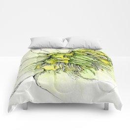 Watercolor Helleborus Comforters