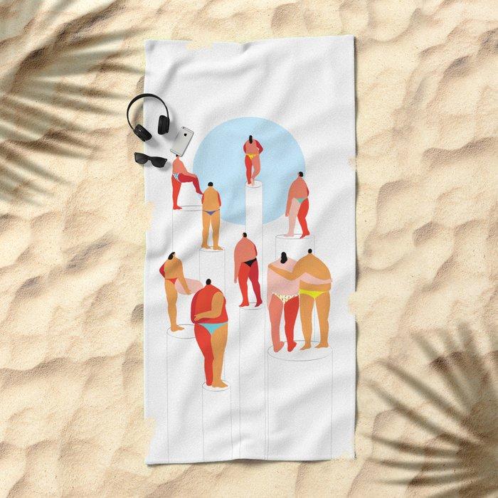 lonely island Beach Towel
