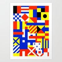sail Art Prints featuring Sail by Jan Luzar