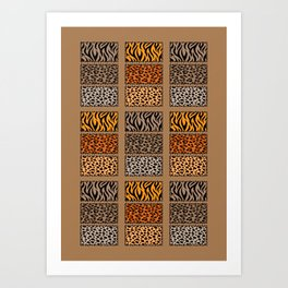 Wild Cats Jungle Print Art Print