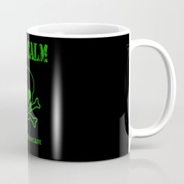 Stay Calm Pirate Flag Coffee Mug