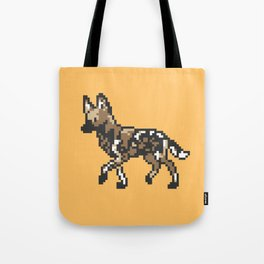 8-bit African Wild Dog Tote Bag