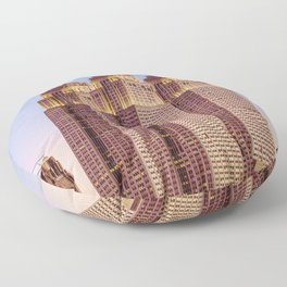 Empire State Building Surreal New York Skyline Floor Pillow