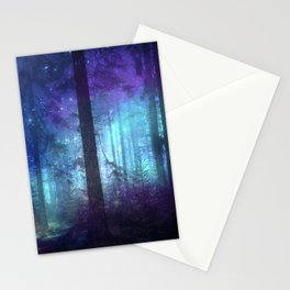 Out of the dark mystic light Stationery Cards