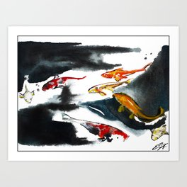 Koi in the Conservatory at Swansons Nursery Art Print