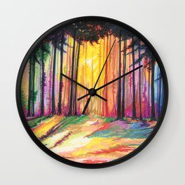 Paint The Forest Wall Clock