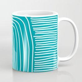 Digital Stitches thick turquoise Coffee Mug