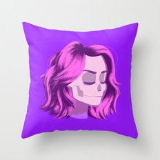 see through girl 4 Throw Pillow