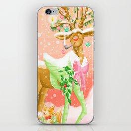 Reindeer Before Christmas iPhone Skin