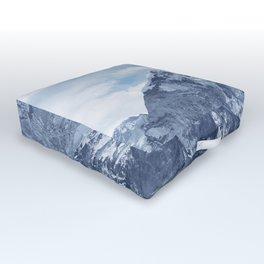 Snowy Mountain Peaks Outdoor Floor Cushion