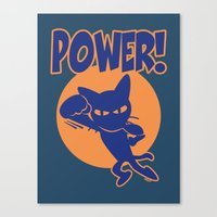 power Canvas Prints featuring Power! by BATKEI
