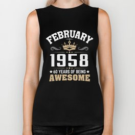 February 1958 60 years of being awesome Biker Tank