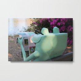 Frog News Metal Print