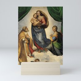 The Sistine Madonna Oil Painting by Raphael Mini Art Print