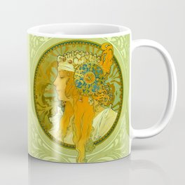 "Alphonse Mucha ""Byzantine Heads: The Blonde and The Brunette"" Coffee Mug"
