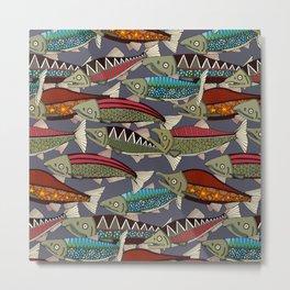 Alaskan salmon dusk Metal Print