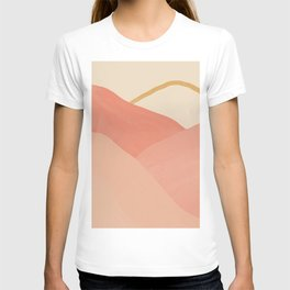 Mountains In Pink T-shirt
