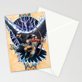 The Warrior and the Thunderbird Stationery Cards