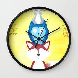 A Furry Friendship Wall Clock