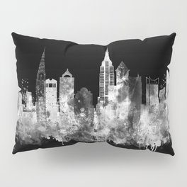 New York City Inverted Watercolor Skyline Pillow Sham