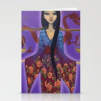 libra Stationery Cards featuring Libra by Artist Andrea