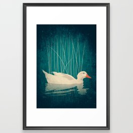 Duck Reflected Framed Art Print
