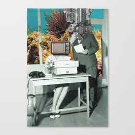 a normal day at work Canvas Print