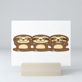 Sloths Mini Art Print