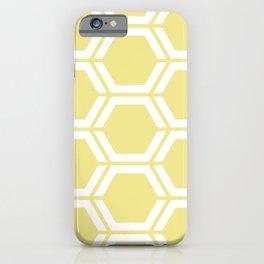 Khaki (X11) (Light khaki) - yellow - Geometric Polygon Pattern iPhone Case