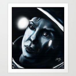 Sandra bullock in Gravity Art Print
