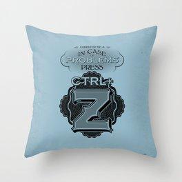 Control plus Z Throw Pillow