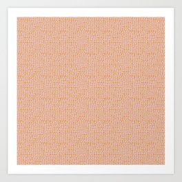 Pink and Yellow pebbles Art Print