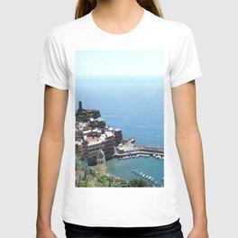Cinque Terre Coast in Italy Acrylic Block T-shirt