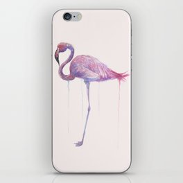 """Watercolor Painting of Picture """"Flamingo"""" iPhone Skin"""