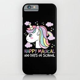 Happy Magical 100 Days Of School Unicorn iPhone Case
