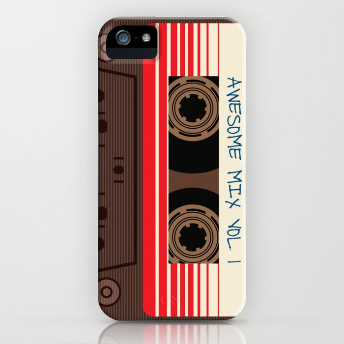 awesome mix vol 1 new hot 2018 CD love cute sticker cover iphone pattern casate art support design iPhone Case