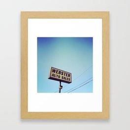 Webster Auto Sales Framed Art Print