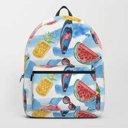 Summer beach. Watercolor Backpack