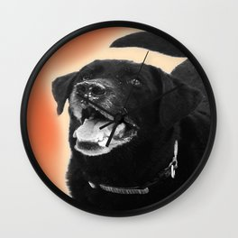 Labrador Happy 2 Wall Clock