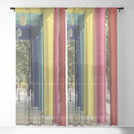 Columns Full of Color and Life Sheer Curtain