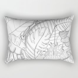 plant fresque Rectangular Pillow