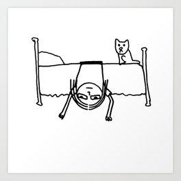 Blair On Bed Art Print