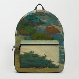 Granville Redmond Carmel Coast Oil Painting Vintage American Art Backpack
