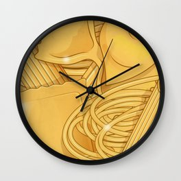 the real italian Pasta food background Wall Clock