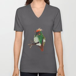 Rufous-crested Coquette Unisex V-Neck
