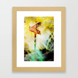 """Corner of Division and Joy""  Framed Art Print"