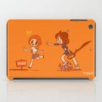 kill la kill iPad Cases featuring Kill La Kill - Mako and Ryuko by tcbunny