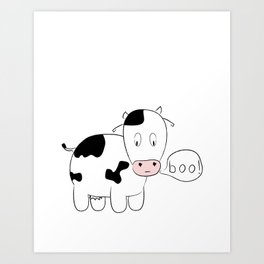 SOLD! Scary Cow - Inspired by a True Incident! Art Print
