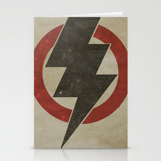 lightning strike zone Stationery Cards