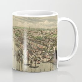 Vintage Pictorial Map of Oswego NY (1855) Coffee Mug